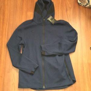 Nike blue w black accents jacket dry fit NWT L
